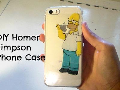DIY iphone case| Homer Simpson eating apple logo