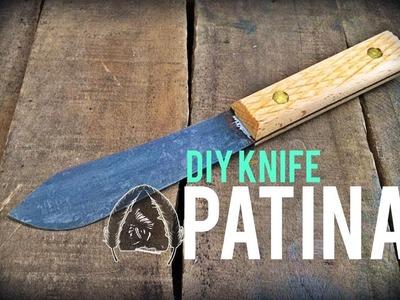 DIY KNIFE PATINA!! TUTORIAL