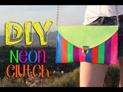 DIY Neon Clutch || Lucykiins