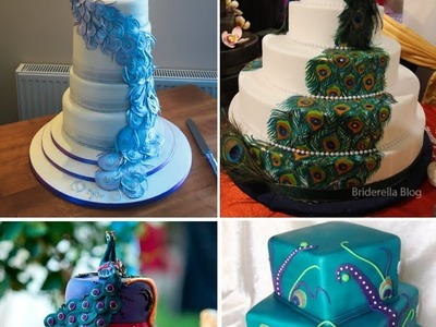 DIY Peacock Wedding Cake Decoration