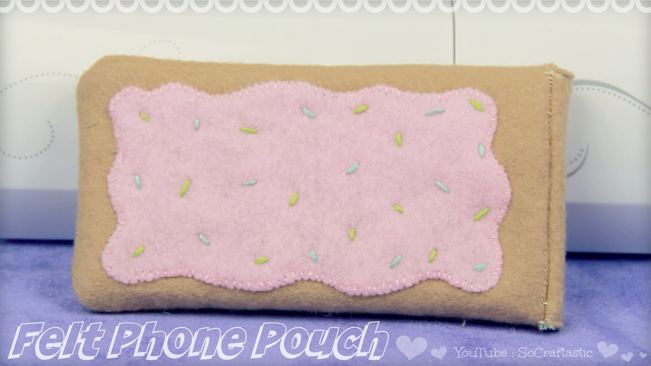 DIY Pop Tart Phone Pouch. Felt Phone Case How-To