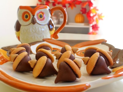 DIY Quick & Easy Fall Treats ~ Kisses Acorn Treats