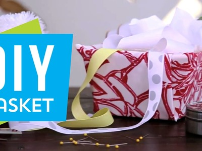 DIY: Super Cute Fabric Baskets ∞ Trash to Fab w. AnneorShine
