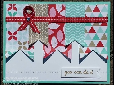 Easy Banner Card (great way to use up your scraps!)