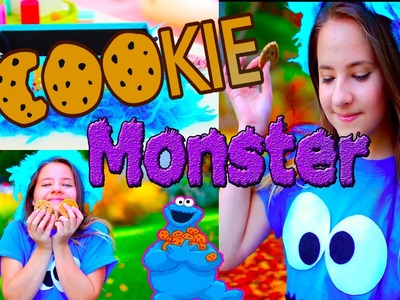 Easy Halloween Costume for Girls: DIY Cookie Monster Costume