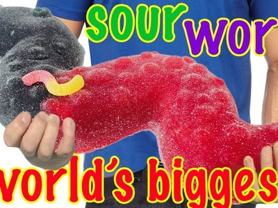GIANT SOUR WORM RECIPE How To Cook That Ann Reardon