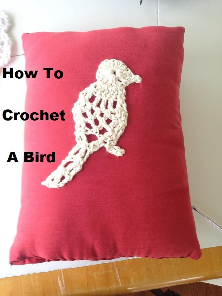How to crochet a bird applique
