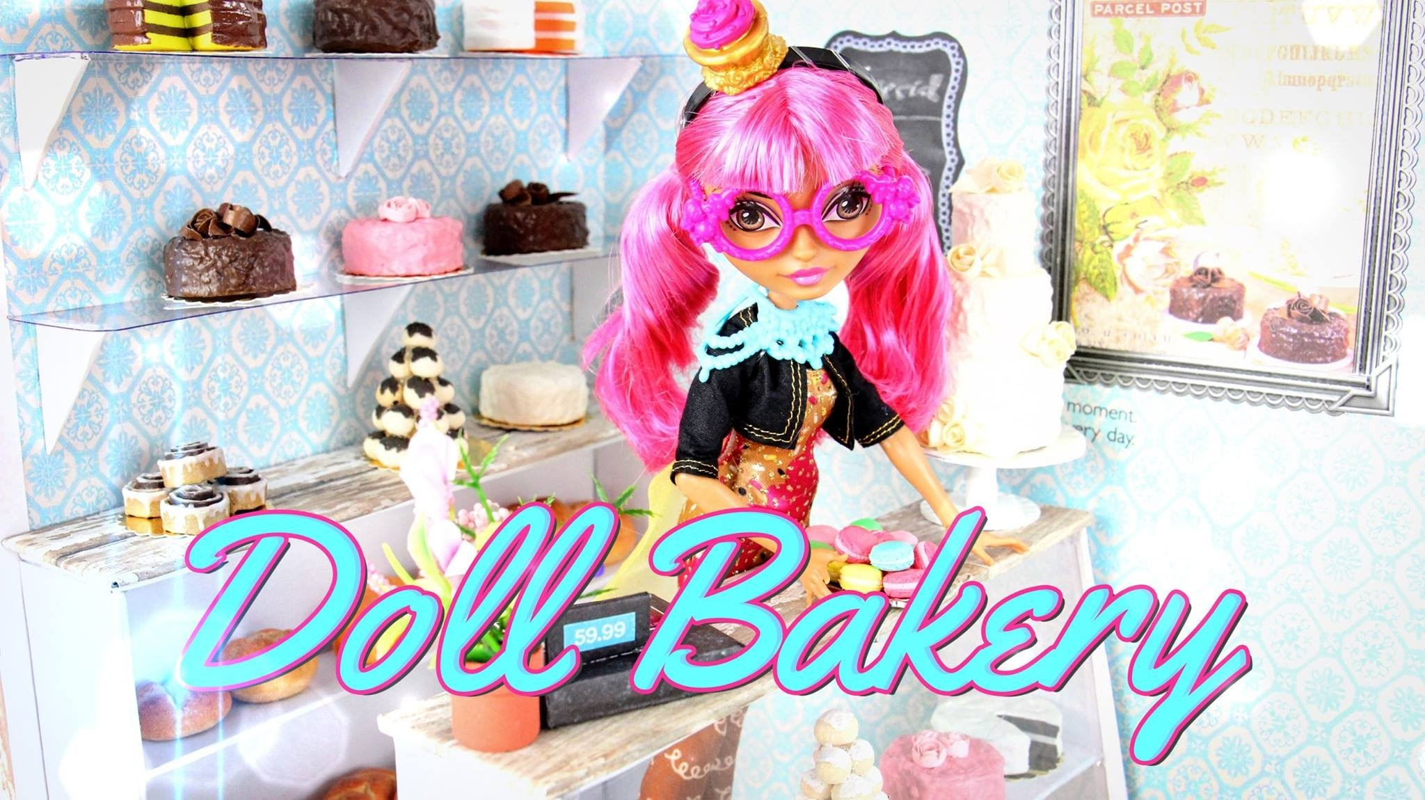 How to Make a Doll Bakery - Doll Crafts