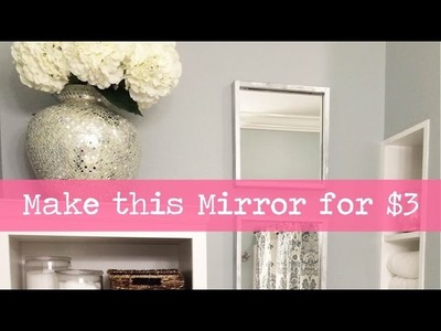 How to Make a Wood Framed Mirror - Easy and Inexpensive