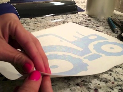 Introduction to vinyl, weeding, reverse weeding, and transfer tape