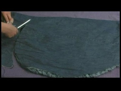 Making Area Rugs From Recycled Jeans : Braided Jeans Rug: Adding Backing