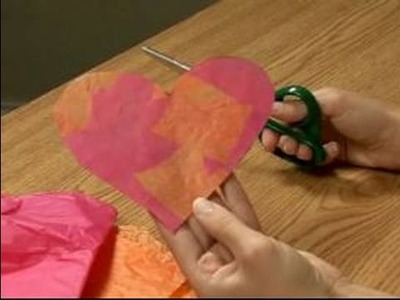 Making Valentine's Day Crafts for Kids : How to Make a Heart Suncatcher Valentine for Kids