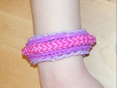 Multi-Row 3D rubber band bracelet - Rainbow Loom