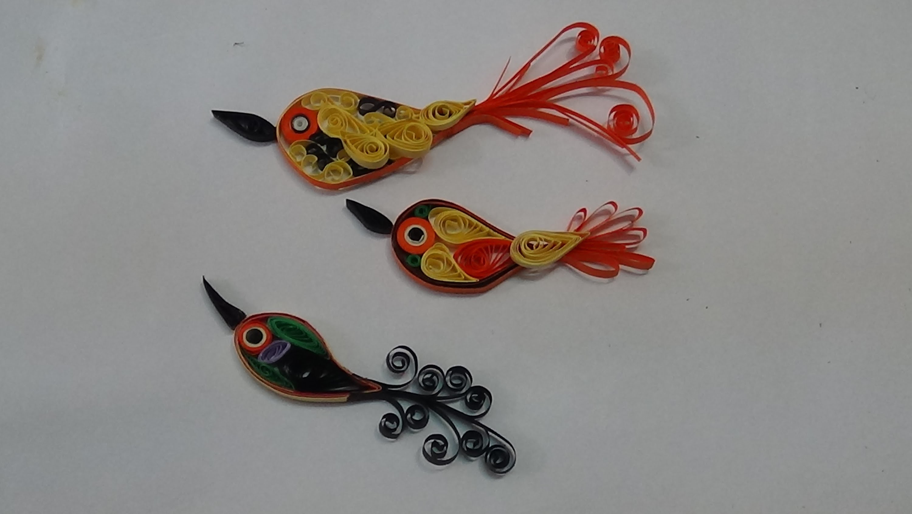 Paper quilling -how to make quilled bird