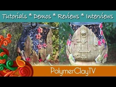 Polymer Clay Magical  Fairy Door Lantern Tutorial