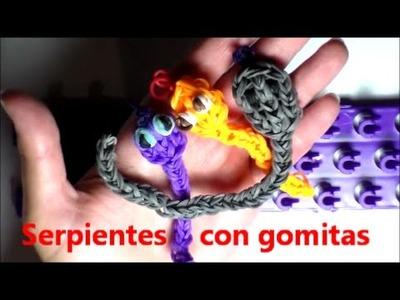 Serpiente con gomitas. Snake with Rainbow Loom