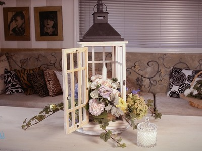 Shabby Chic Lantern Floristry Arrangement