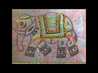 Textile Design - Block Printing with elephants