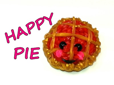 3-D Happy Pie Tutorial by feelinspiffy (Rainbow Loom)