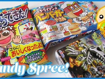 3 DIY Japanese Candy Kits & My Boyfriend || Candy Spree!