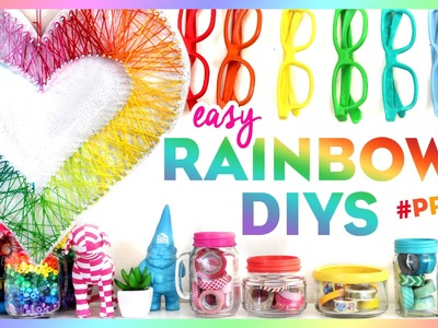 4 Easy Rainbow DIYs ~ #PRIDE ~ Bring Color to Your Room This Summer!