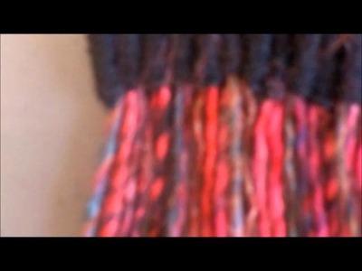 7 Ending the Yarn Straw Weaving