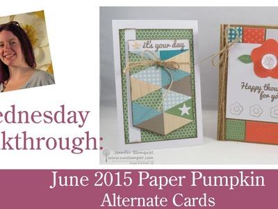 Alternative Cards for Paper Pumpkin - June 2015 (Walkthrough Wednesday)