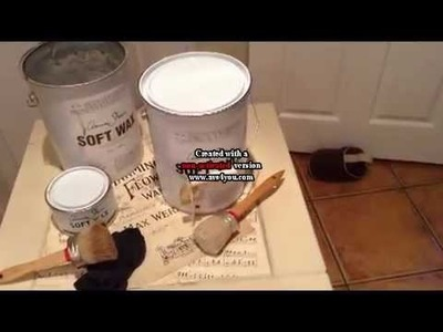 Annie Sloan Dark Wax Tutorial by Vintage Uniques Painted Furniture
