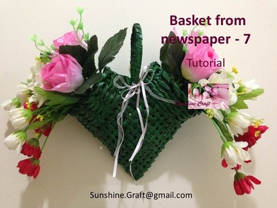 Basket from newspaper 7 - Tutorial