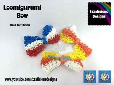 Bow - Loomigurumi Crochet technique with Rainbow Loom Bands
