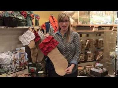 Burlap Christmas Stockings - Bella Vita Interiors