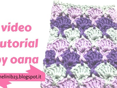 Crochet criss cross shell stitch