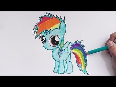 Dibujando y pintando Rainbow Dash (My Little Pony) - Drawing and painting Rainbow Dash