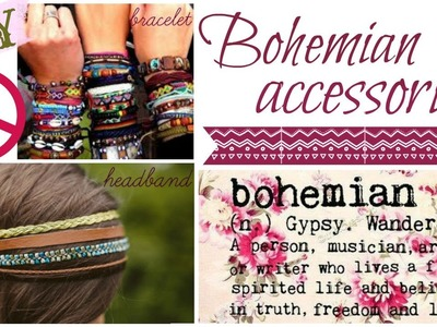 DIY.Bohemian jewellery! Boho accessories!