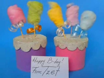 DIY. Cotton Candy Decoration ♥ Manualidades. Algodon de azucar decorativo