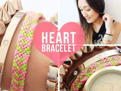 DIY: Heart Pattern Bracelet | LaurDIY