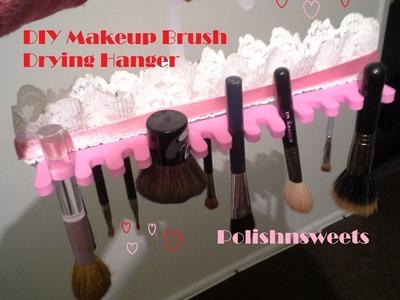 DIY Makeup Brush Drying Hanger