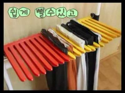 DIY Pants hanger rack