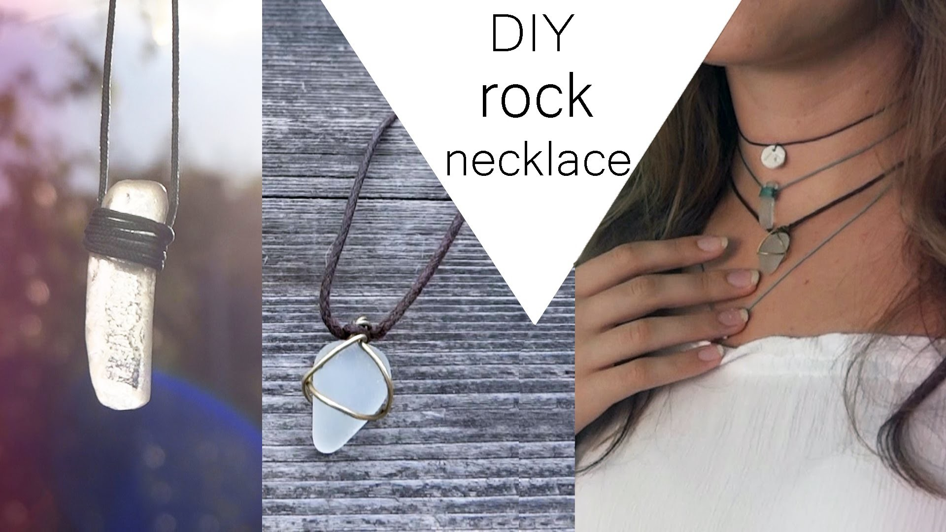 DIY ROCK NECKLACE