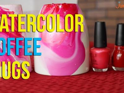 Easy DIY Watercolor Coffee Mugs