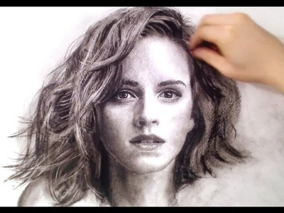 Emma Watson Portrait Drawing video