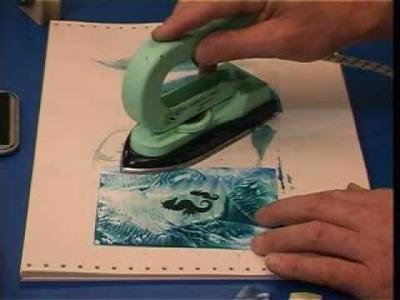 Encaustic Art  lesson 03 - rubber stamping