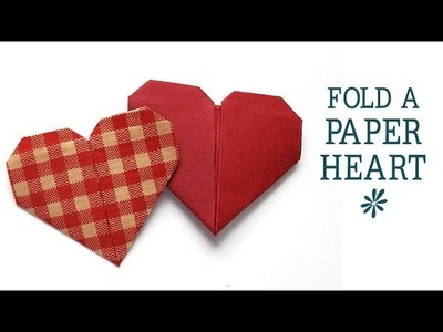 Fold an origami paper heart - tutorial