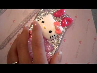 Hello Kitty Swarovski Bling iPhone 4 Case