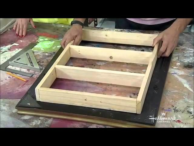 Home & Family - Making a DIY Picture Frame Makeup Vanity