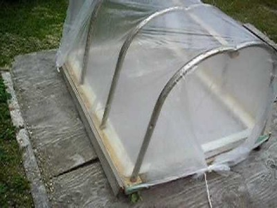 Homemade diy greenhouse made from scrap
