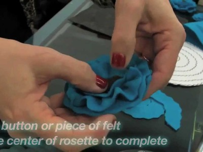 How To Create A Felt Rosette - iLoveToCreate