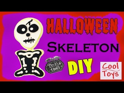 How to do Skeleton DIY Halloween Play Doh Trick or Treat Playdoh