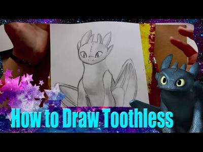 How to Draw TOOTHLESS from Dreamwork's How to Train Your Dragon - @dramaticparrot