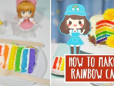 ★ How To Make A Kawaii Rainbow Cake + GIVEAWAY ★